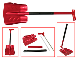 Sno-X Snow showel with saw, Red aluminum