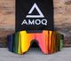 AMOQ Comet Sunglasses Black - Red Mirror