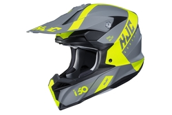 HJC Helmet I50 Erased Yellow MC4HSF