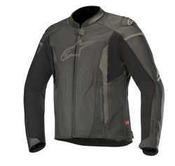 Alpinestars Leatherjacket Faster Black/Gray