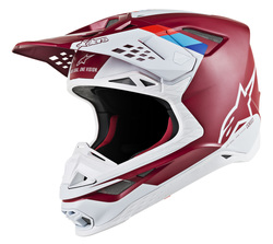 Alpinestars Helmet Supertech S-M8 Contact Red/White