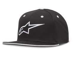 Alpinestars Ageless Flatbill Hat, Black/White