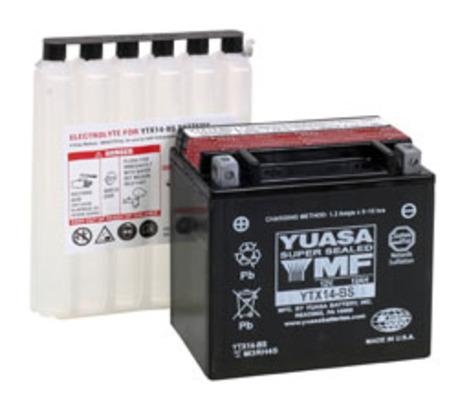 YUASA batteri YTX14-BS With acid bottle