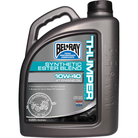 Bel-Ray Thumper Racing 10W-40 Synthetic Ester Blend 4T Engine Oil 4L