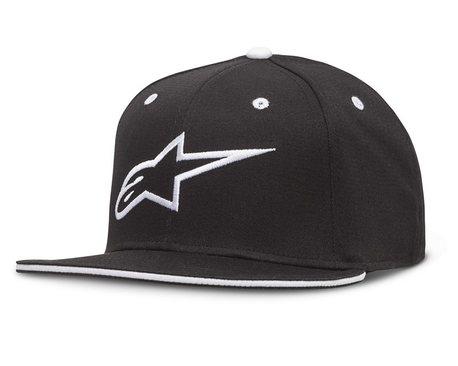 Alpinestars Ageless Flatbill Hat, Black/White